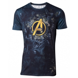 T-Shirt Avengers Infinity War Team Sublimation Tamanho S