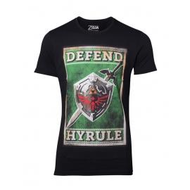 T-shirt Zelda Propaganda Sword & Shield - Tamanho L