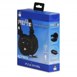 Auscultadores Gaming 4Gamers Stereo PRO4-10 Preto