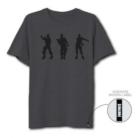 T-Shirt Fortnite Cinzenta Dance - Tamanho L