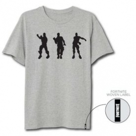 T-Shirt Fortnite Cinzenta Clara Dance - Tamanho L