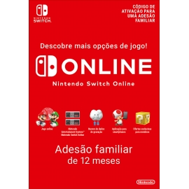 Subscrição 365 Dias Switch (Familiar) (Nintendo Digital)