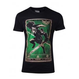 T-shirt Zelda: Propaganda Link Triforce - Tamanho S