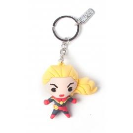 Porta-chaves 3D Marvel - Captain Marvel Kawaii