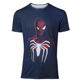 T-Shirt Acid Wash Spider-Man - Tamanho S