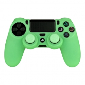 Capa Silicone + Grips Comando PS4 Glow in the Dark FR-TEC