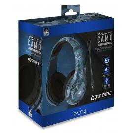 Auscultadores Gaming 4Gamers Stereo PRO4-70 Camo Azul