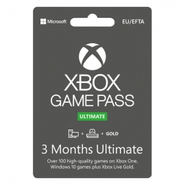 Cartão Microsoft Xbox - Game Pass Ultimate 90 dias (3 Meses) - (Cartão Fisico)