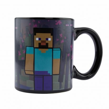 Caneca de Reação Térmica Minecraft Enderman