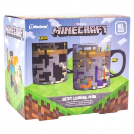 Caneca de Reação Térmica Minecraft XL