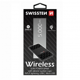 Swissten - Wireless Slim Powerbank 5000 mAh