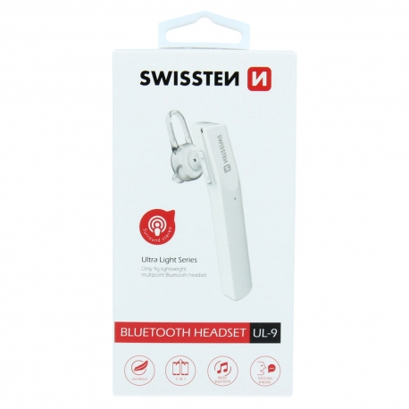 Swissten - Headset Ultra Light UL-9 (white)