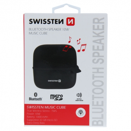 Swissten - Music Cube Bluetooth Speaker (black)