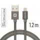 Swissten - Textile Cable USB-Lightning (1.2m-grey)