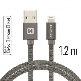 Swissten - Textile Cable USB-Lightning (1.2m-grey)