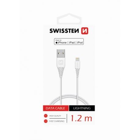 Swissten - Cable USB-Lightning (1.2m-white)