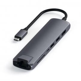 Satechi - USB-C Slim Multi-Port w/ Ethernet adpt (sp grey)