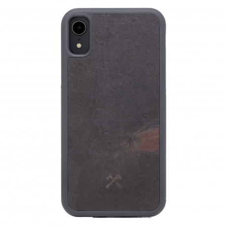 Woodcessories - Bumper Case Stone iPhone XR (v. black)