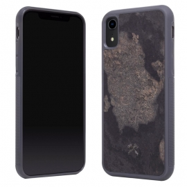 Woodcessories - Bumper Case Stone iPhone XR (camo grey)