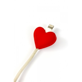 Mojipower - Cable Protector (heart)