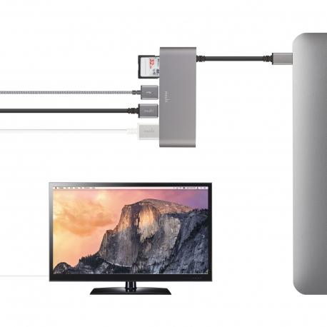 Moshi - USB-C Multimedia adapter (titanium grey)