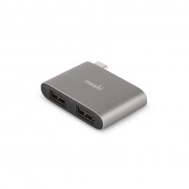 Moshi - USB-C to Dual USB-A adapter (titanium grey)