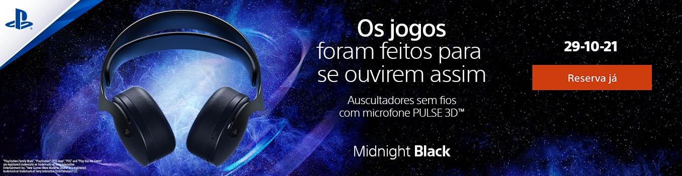 Auscultadores sem fios com microfone PULSE 3D Midnight Black Playstation 5